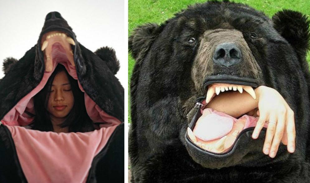 В таком спальнике-медведе никто не посмеет потревожить сон