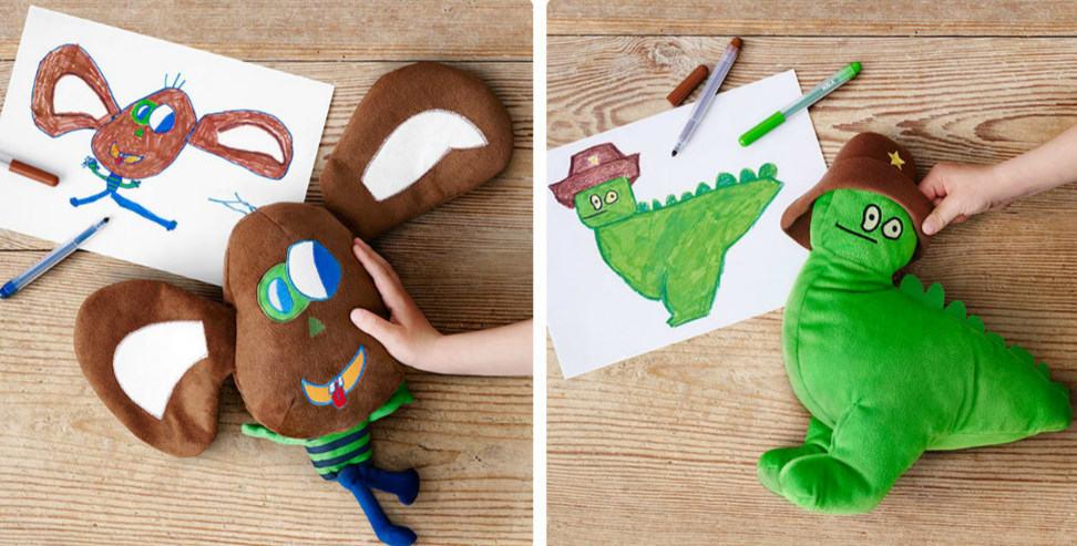 IKEA сделала мягкие игрушки по детским рисункам