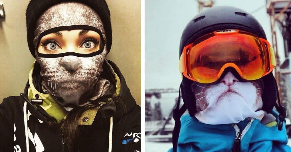 «Дикие» лыжные маски от дизайнера Теи Салат
