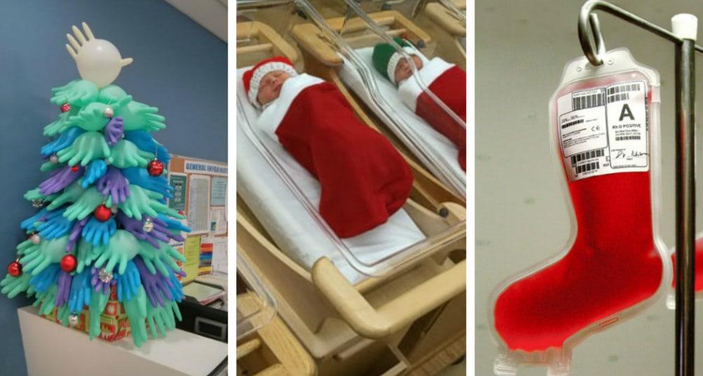 10 креативных новогодних украшений от медицинского персонала