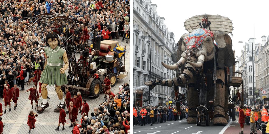 Уличный театр Royal de Luxe: гигантские марионетки, колесящие по миру
