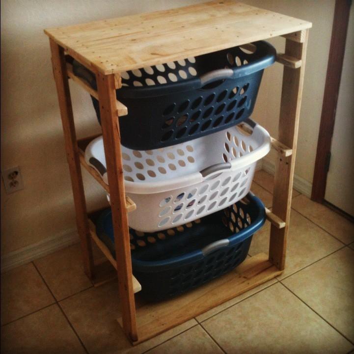 Pallet Laundry Basket Dresser