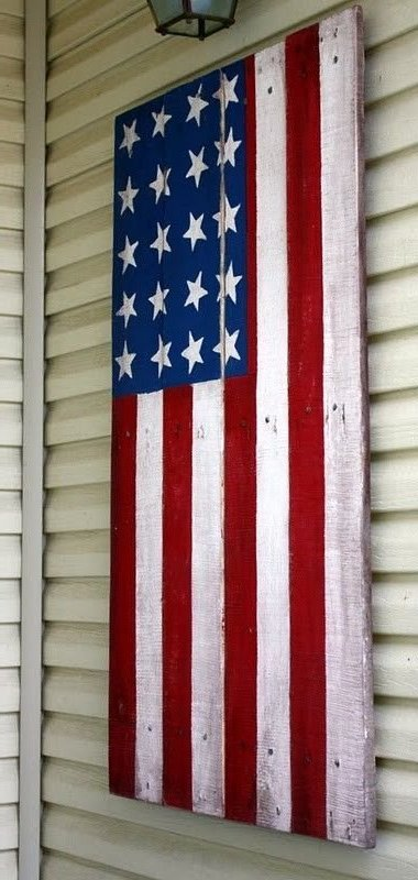 pallet wooden flag-wonderfuldiy