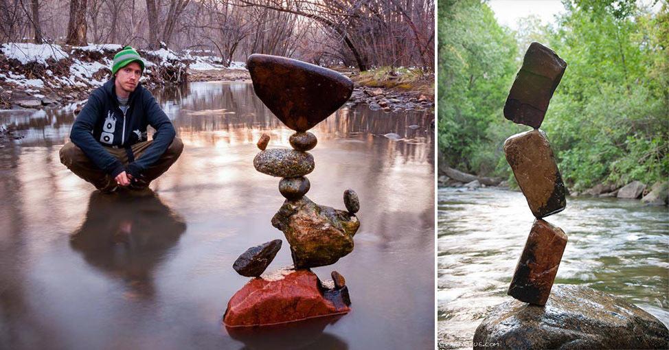 Этот парень создает конструкции из камней, которые кажутся просто невозможными
