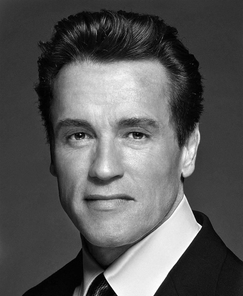 Arnold Schwarzenegger mixed with Sylvester Stallone