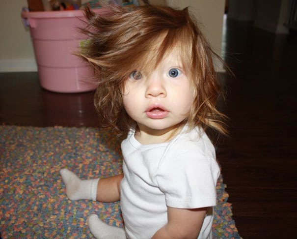 Just A Picture Of My 10 Month Old Baby With Her Normal Crazy Hair