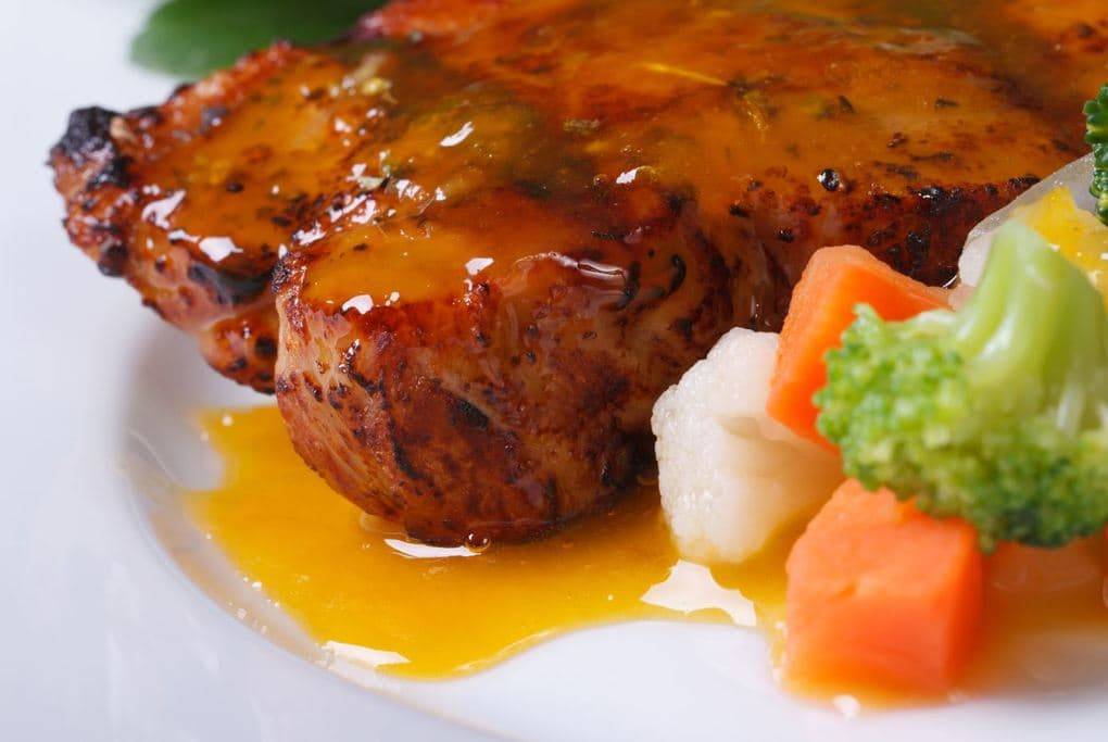 Beef-with-orange-sauce