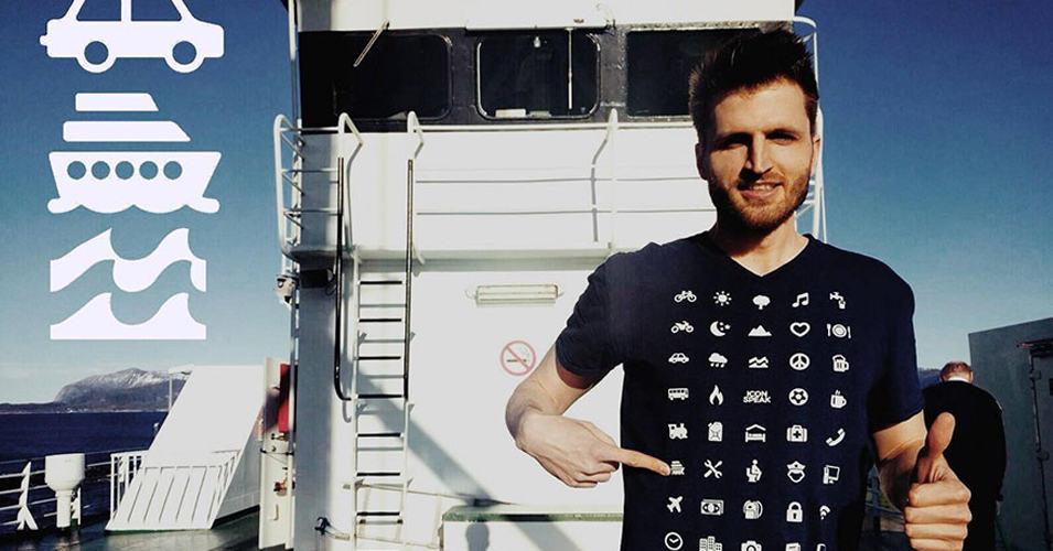 Специальная футболка для путешественников позволит вам общаться в любой стране, не зная языка