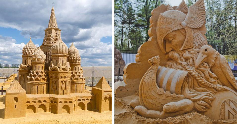 20 поразительных песчаных скульптур