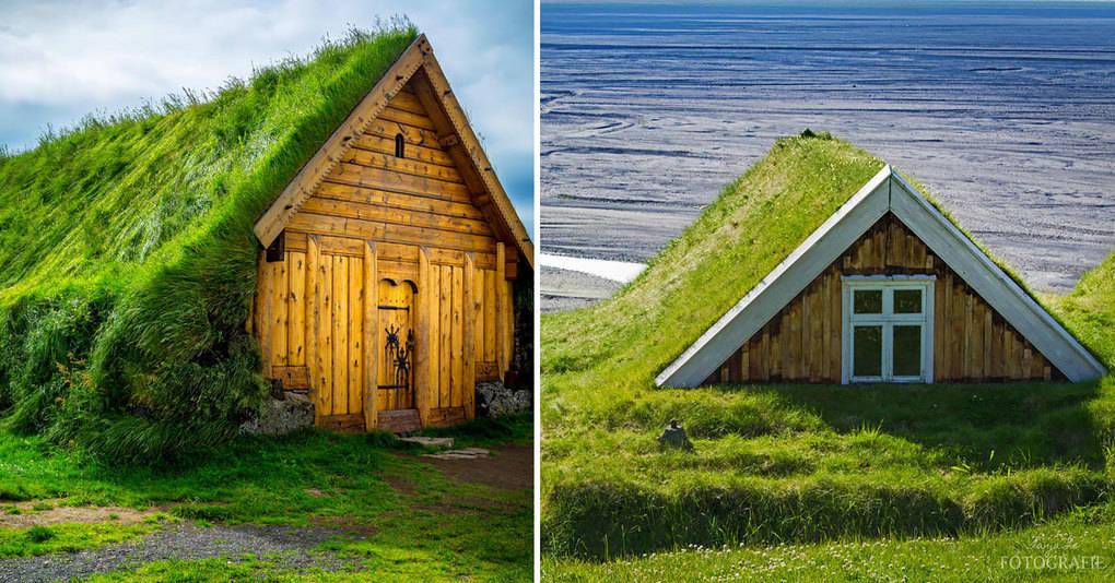 15 впечатляющих скандинавских домиков с зелеными крышами