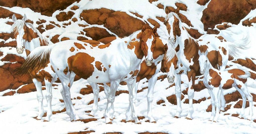 Сколько лошадей вы видите на этой замечательной картине?