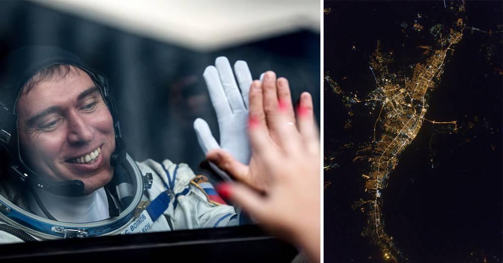 Космонавт публикует фотографии городов по просьбам из соцсети