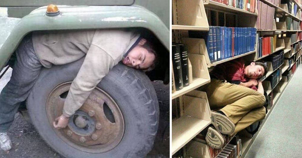 20 человек, которые доказали, что уснуть можно в любом месте