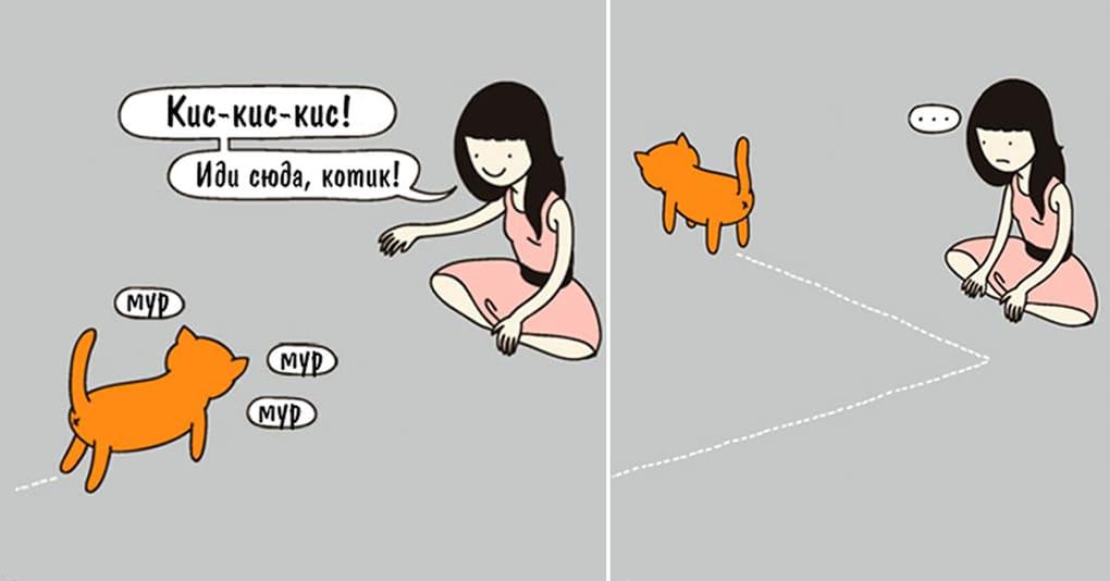 15 уморительных комиксов про котов и их хозяев