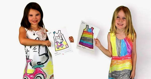 Эта компания предложила детям самостоятельно нарисовать дизайн своей одежды