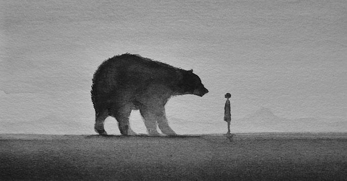 Магический минимализм в черно-белых картинах Элисии Эдижанто