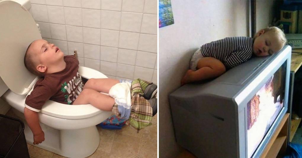 20 фотографий о том, что дети могут спать где угодно