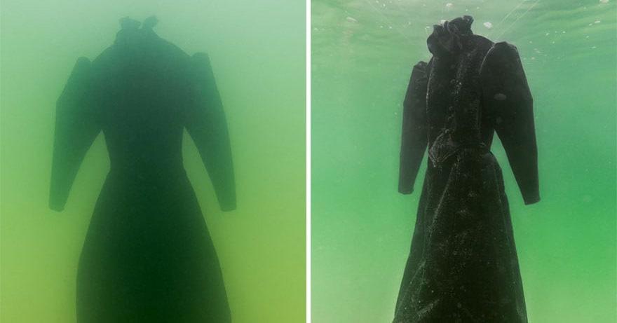 Она опустила платье в Мертвое море и оставила на 2 месяца, и вот во что оно превратилось