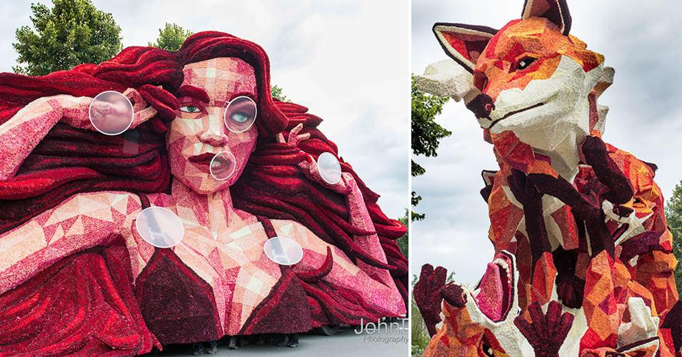10 гигантских скульптур, которые были сделаны из… цветов!