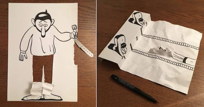 Невероятно изобретательные 3D вырезки из бумаги