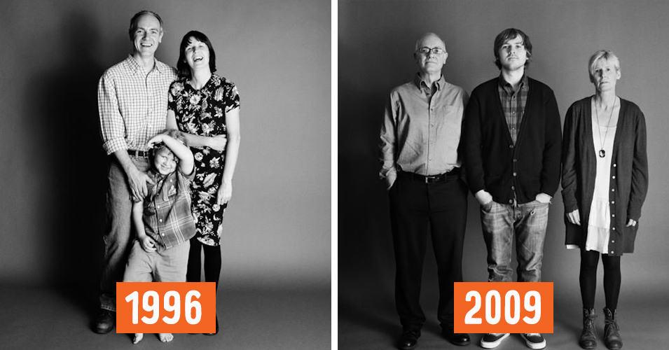 Фотограф делал снимки этой семьи каждый год на протяжении 25-ти лет