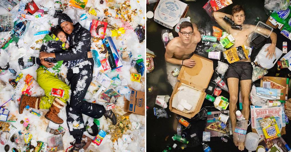 Фотопроект: сколько мусора мы производим всего за 7 дней?