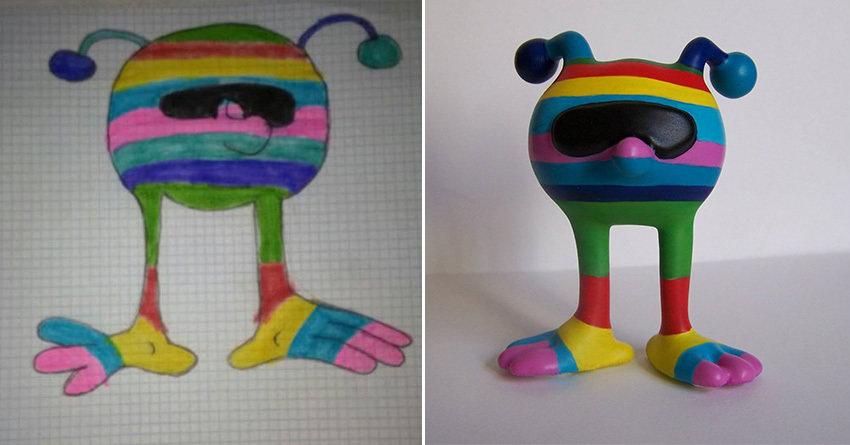 Дизайнер превращает детские рисунки в игрушки