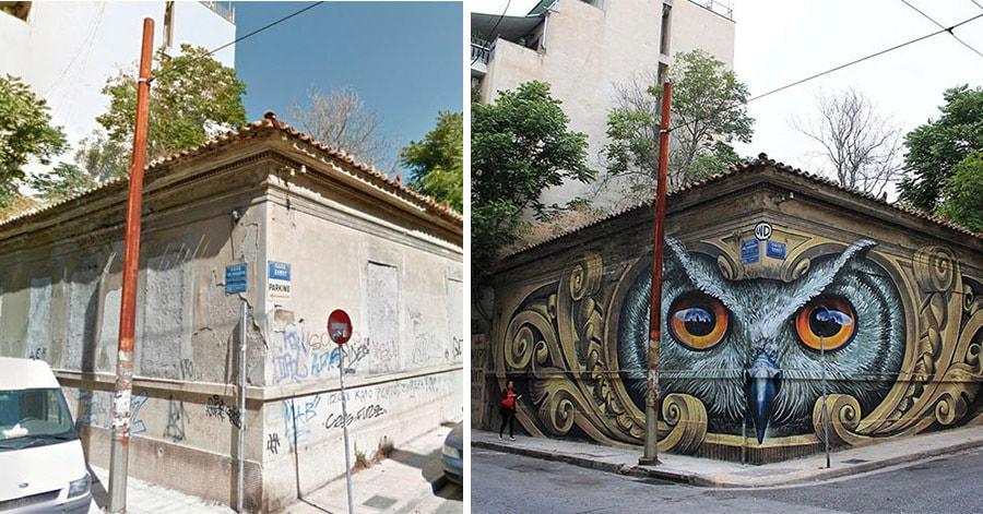 Невероятные настенные рисунки, которые полностью преобразили улицы