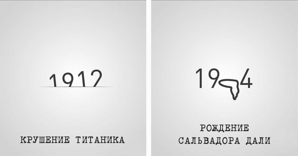 16 исторических событий, изображённых в виде даты
