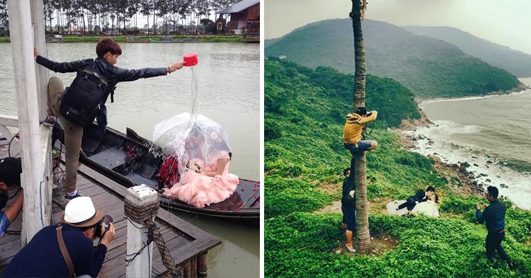 25 фотографий, показывающих, на что готовы пойти азиатские фотографы ради идеального кадра
