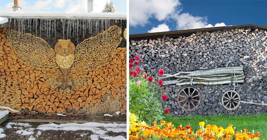 11 ярких примеров творческого подхода при заготовке дров