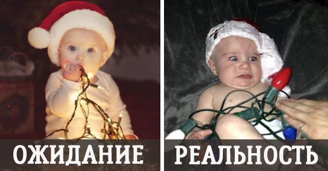 Детская новогодня фотосессия: ОЖИДАНИЕ и РЕАЛЬНОСТЬ
