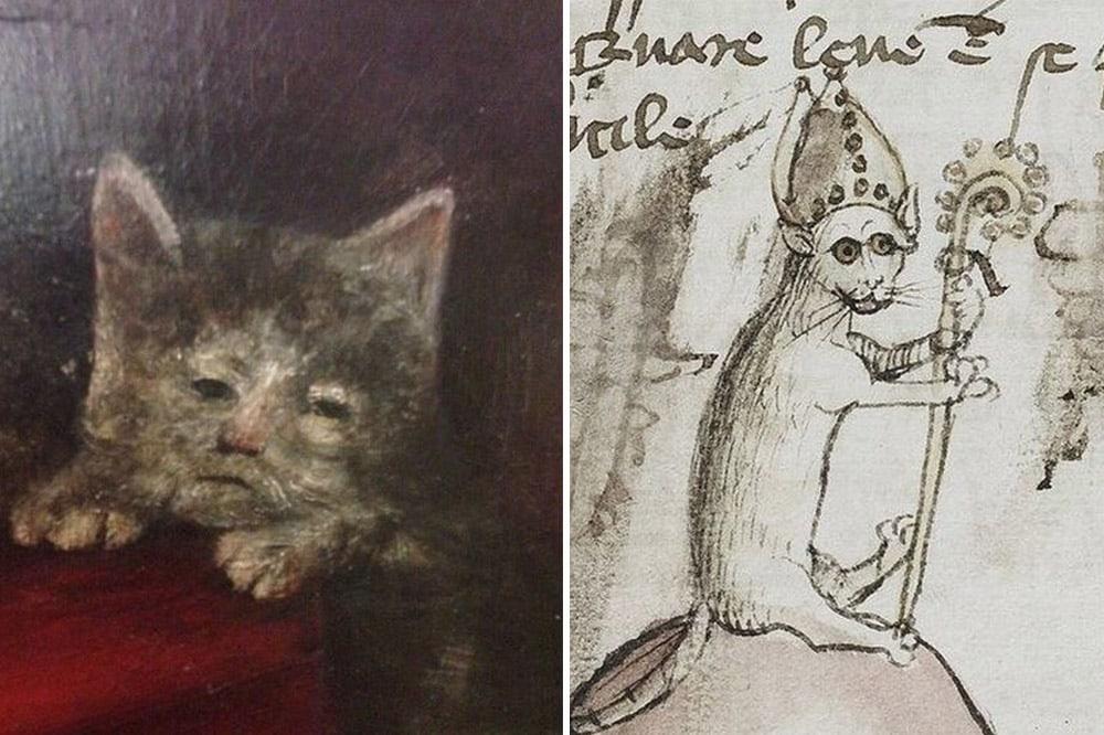 20 рисунков котов работы художников средневековья, которые откроют вам истину