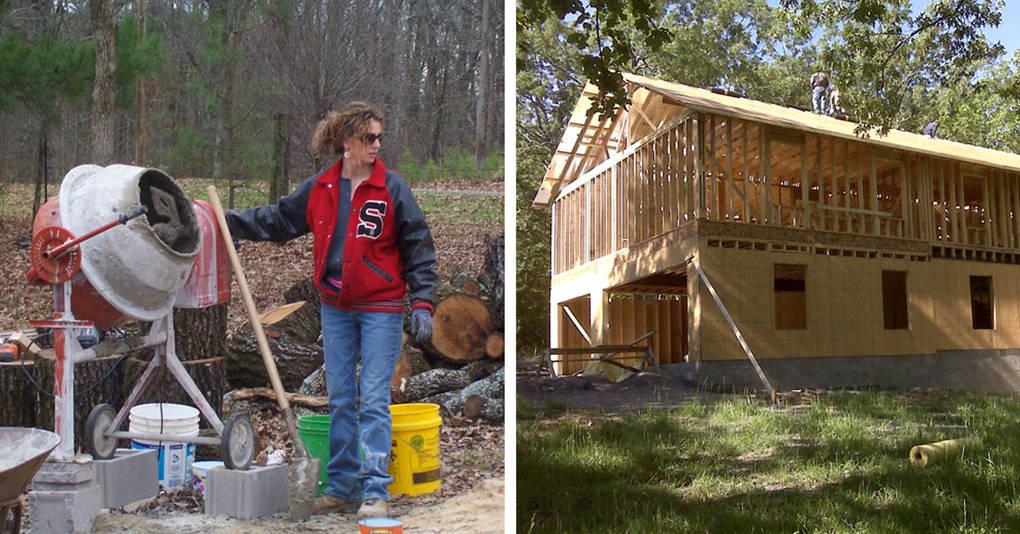 Женщина и её четверо детей самостоятельно построили дом с помощью обучающих видео на YouTube