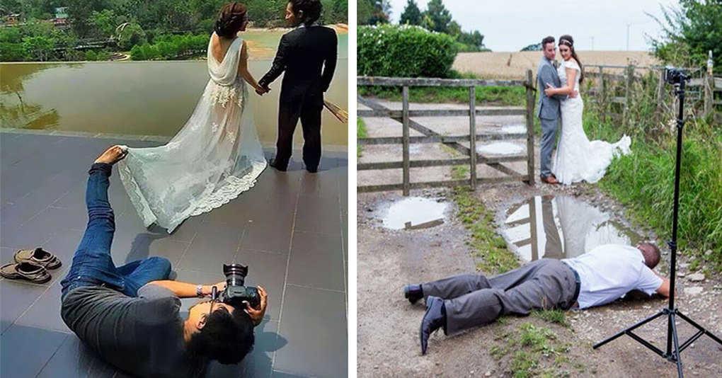22 свадебных фотографа, которые готовы на всё ради хорошего снимка