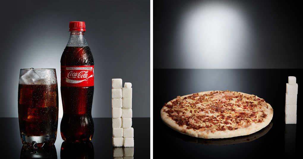 А вы знали сколько кубиков сахара прячется в ваших любимых продуктах?