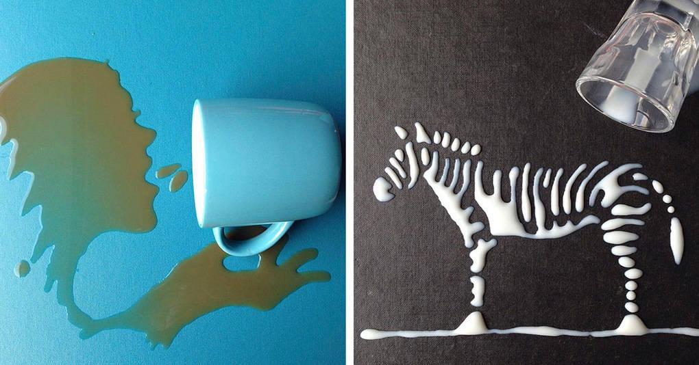 Художник превращает простую воду в произведения искусства