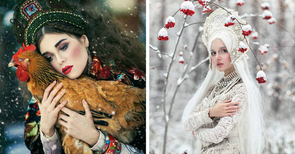 Девушка оживляет русские сказки в своей невероятно красивой фотосессии
