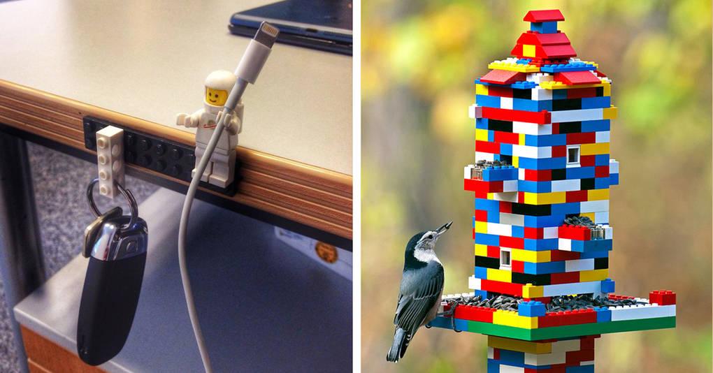 20 гениальных примеров использования Лего, о которых вы даже не догадывались