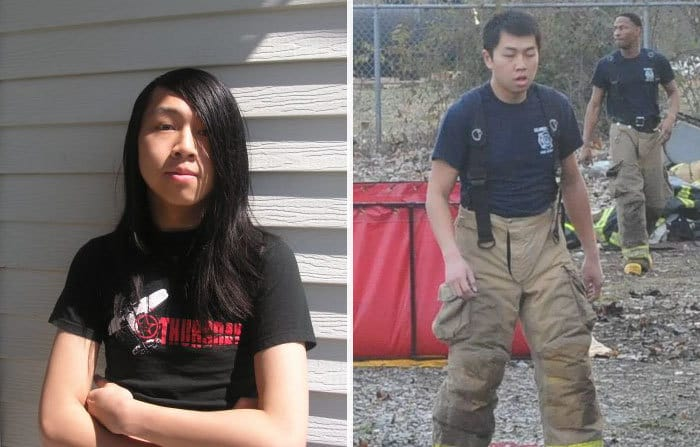 I Became A Fireman, If I Talked To Myself 8 Years Ago And Said You Would Cut Your Hair And Become Part Of The Fire Department I Would