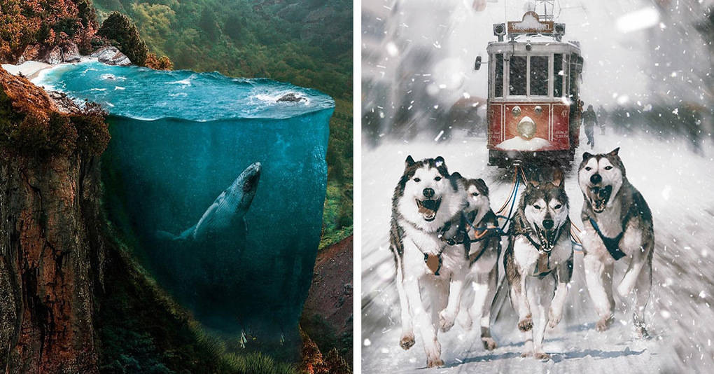 Художник превращает реальные фотографии в захватывающие фантастические миры