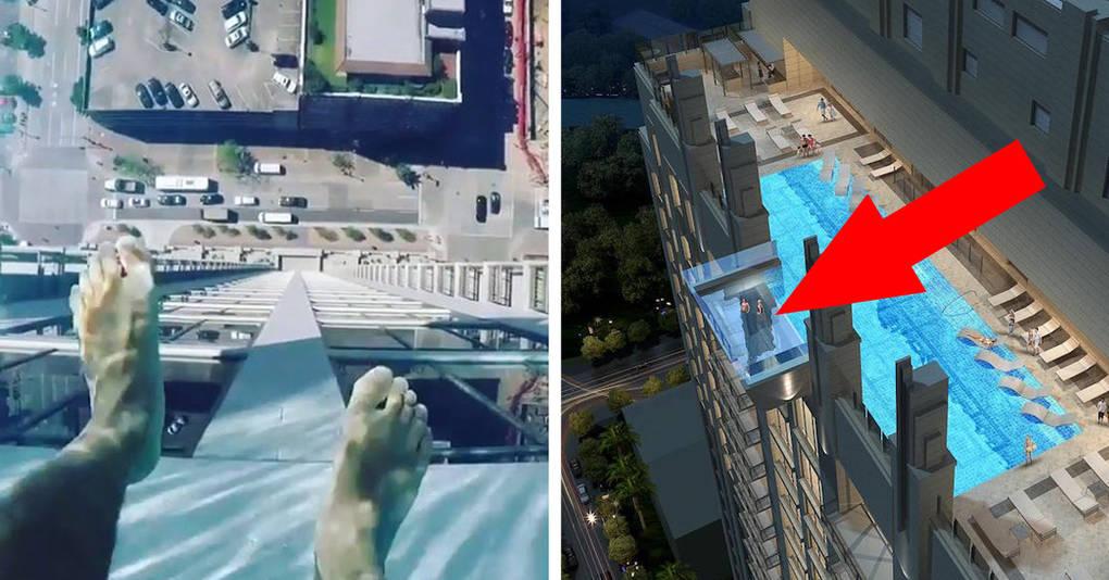 А вы бы рискнули искупаться в этом бассейне на крыше небоскреба?