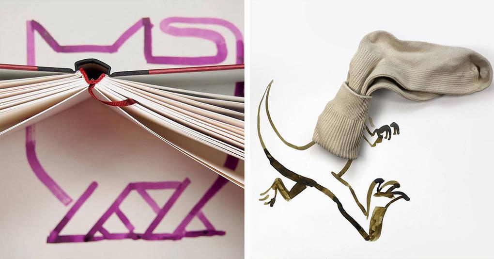 20 ярких примеров гениального совмещения рисунков и реальных объектов