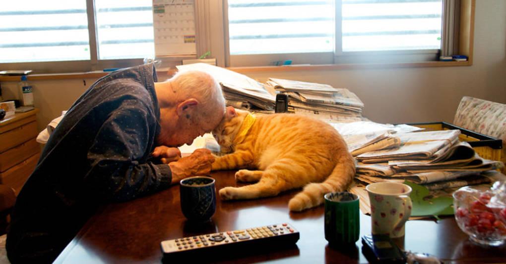Появление кота изменило жизнь этого больного дедушки до неузнаваемости