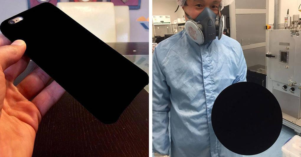 Эта новая супер-черная краска может превратить любой объект в темную пустоту