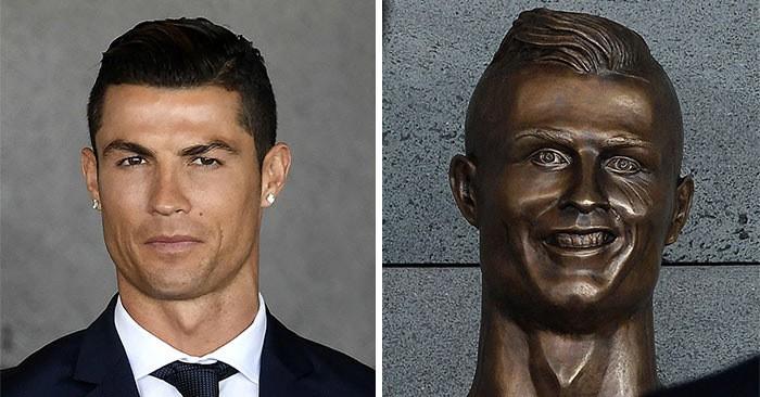 Уморительная статуя знаменитого футболиста рассмешила весь Интернет