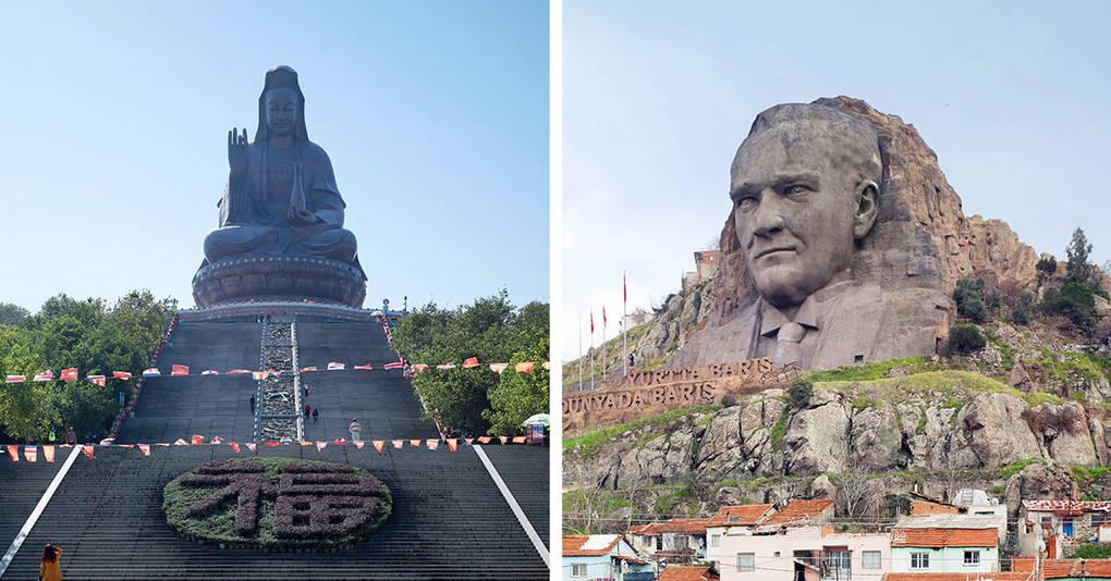 16 гигантских скульптур, которые почему-то остались неизвестными