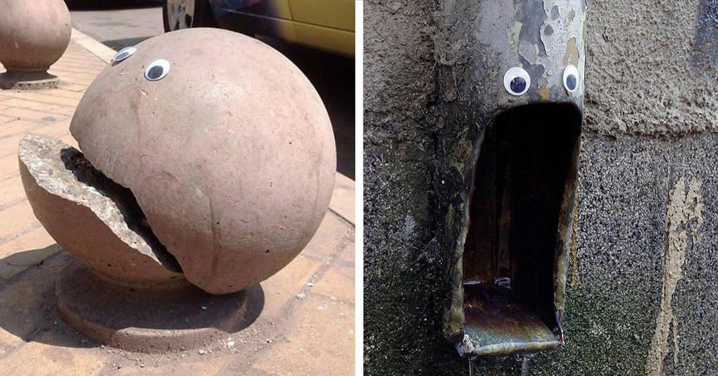 Художник нашел необычный способ привлечь внимание к сломанным городским объектам