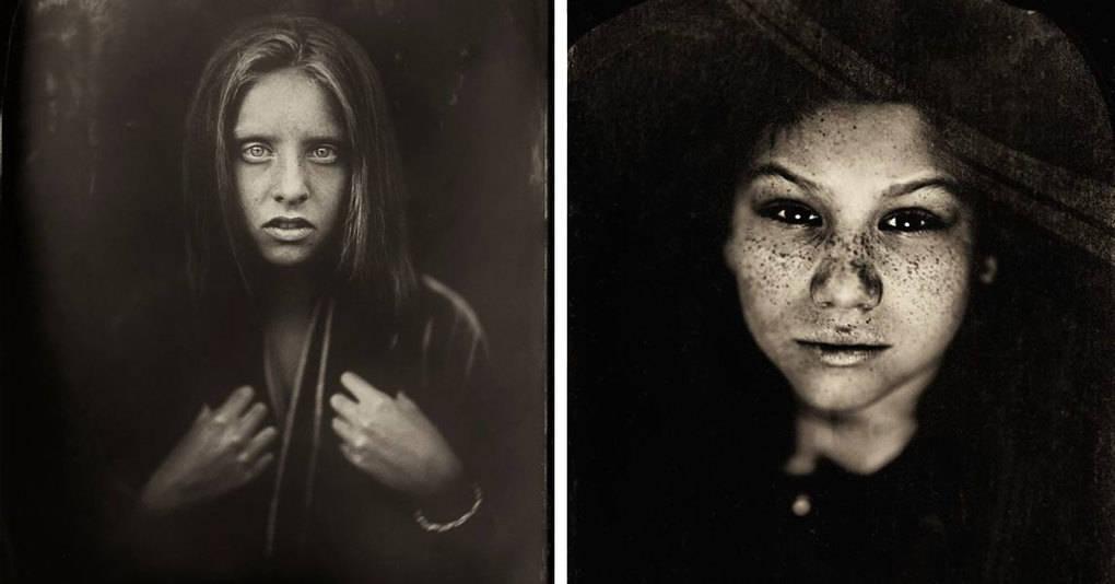Фотограф создаёт мрачные портреты детей, используя технологию съёмки XIX века