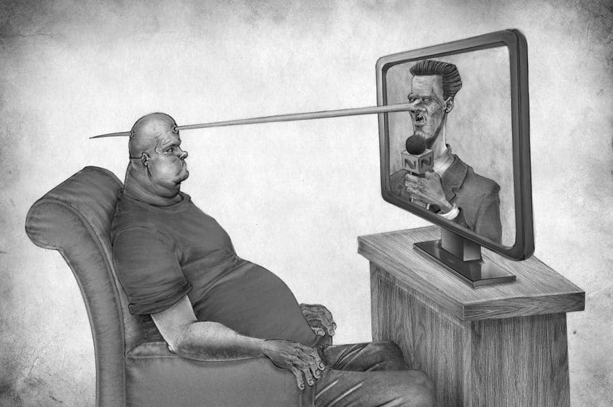 20 провокационных иллюстраций о том, что случилось с современным обществом